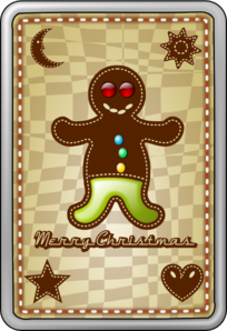 Gingerbread Card Clip Art