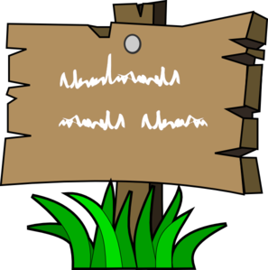 Wood Sign Clip Art