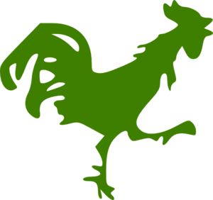 Green Rooster Clip Art
