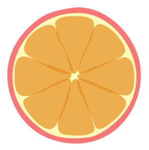 Pink Tangerine Bigger Sections Clip Art