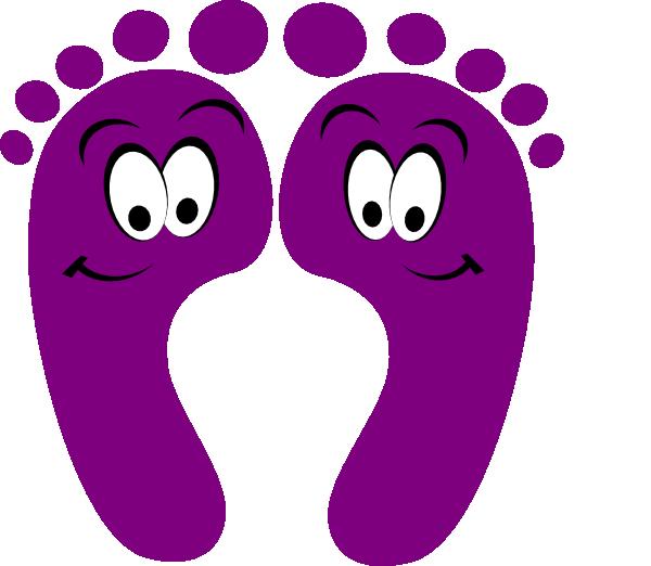 purple happy feet clip art at clker com vector clip art online rh clker com feet clip art free foot clipart images