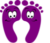 Purple Happy Feet Clip Art
