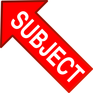 Red Subject Arrow Up Left Clip Art