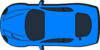 Blue Car - Top View - 180 Clip Art