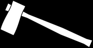 Axe Outline Clip Art at Clker.com - vector clip art online ...