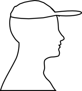 Head Outline With Hat Clip Art
