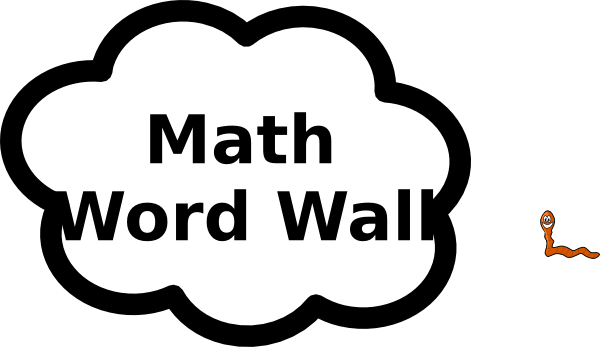 Math Word Wall Clip Art At Clker
