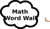 Math Word Wall Clip Art