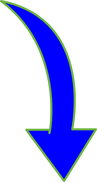 Arrow Pointing Down >> Curved-arrow-bright-blue-small Clip Art at Clker.com - vector clip art online, royalty free ...