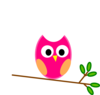 Pink Owl Clip