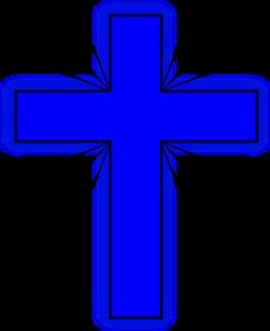 christian cross clip art blue - photo #11