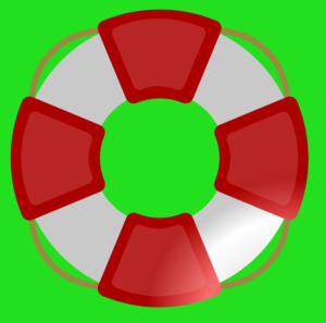 Life Saver (green Background) Clip Art