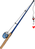 Fishing Pole Heart Clip Art