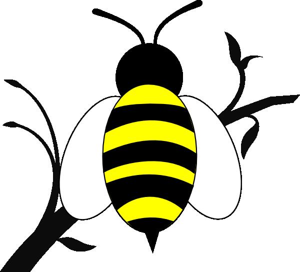 honey bee over branch clip art at clker com vector clip honey bee clip art black and white honey bees clipart