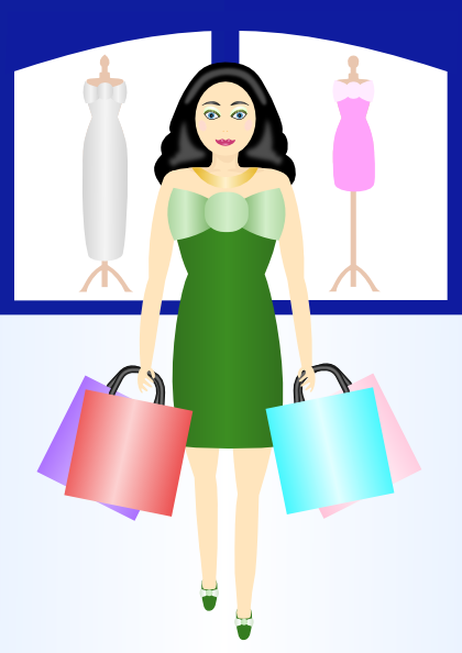 Woman Shopping Clipart Woman Shopping Clip Ar...