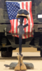 An M16-a2 Service Rifle, A Pair Of Boots And A Helmet Stand In Tribute To A Fallen Marine Corps Sergeant. Clip Art