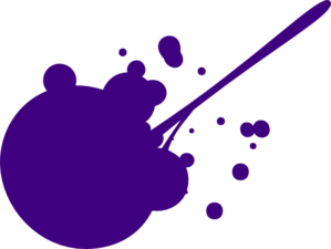 Purple Splat Clip Art
