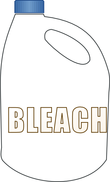 how to draw bleach bottle