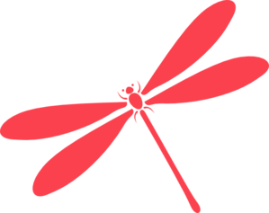 Pink Dragon Fly Clip Art