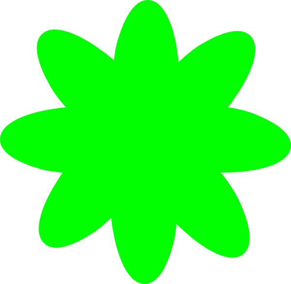 free green flower clipart - photo #21