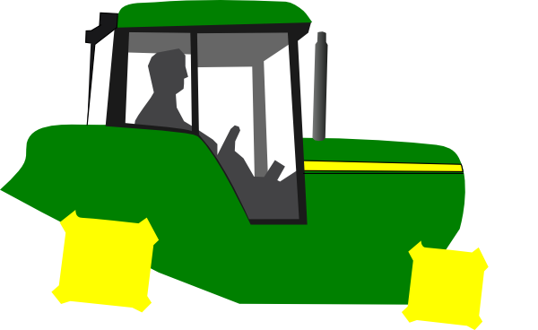 Small Tractor Cartoon : Tractor clip art at clker vector online