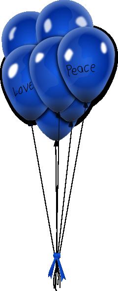 Blue Balloons Clip Art At Clker Com Vector Clip Art