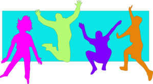 Jumping Kids (spring) Clip Art
