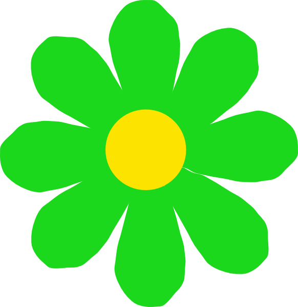 free green flower clipart - photo #6