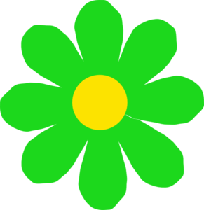 Bright Green Flower Clip Art