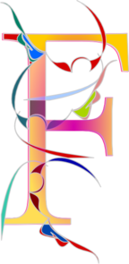 Abstract Letter F Clip Art