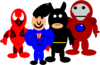 Super Hero Cartoons Clip Art