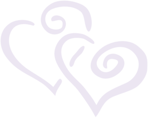 Faint Purple Double Heart Clip Art