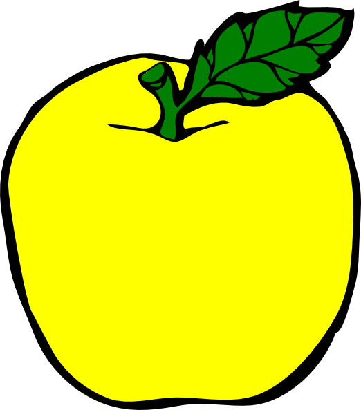 Apple yellow. Clip art at clker