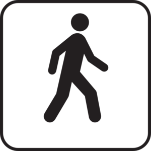 Walking Man White Clip Art