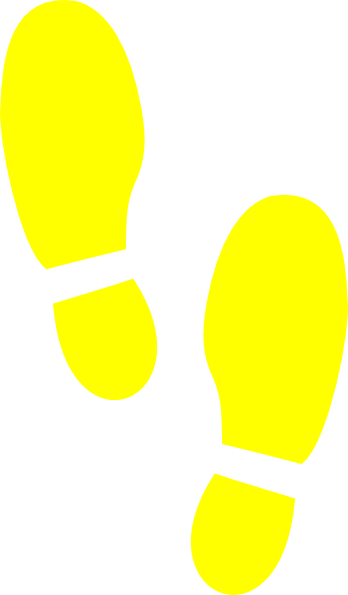 Shoe Print Yellow Clip Art at Clker.com - vector clip art ...