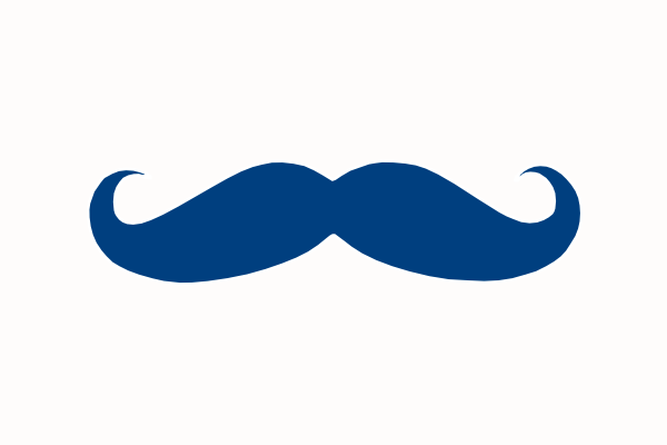 Blue Mustache Clip Art At Clker Com Vector Clip Art