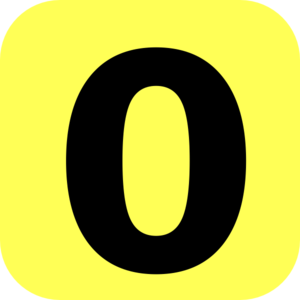 Yellow Rounded Number 0 Clip Art