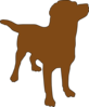 Brown Dog Silhouette Clip Art