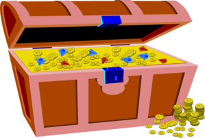 Pirate S Chest Full Of Gold And Gems Clip Art