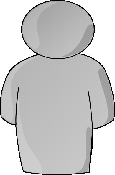 person buddy symbol gray clip art at clker com vector clip art