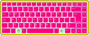 Retro Keyboard Clip Art
