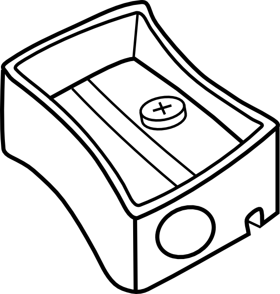 Pencil Sharpener Coloring Page