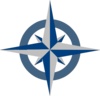 Compass Rose - Blue-grey With Opacity Clip Art