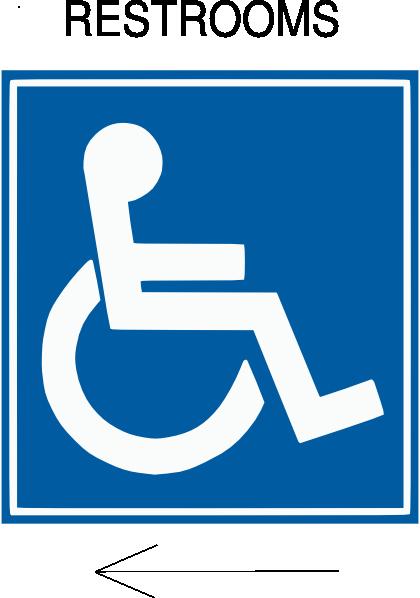 handicap restroom directional clip art at