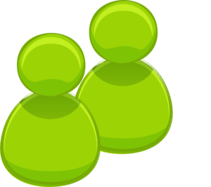 Two Green People Clip Art