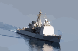 Uss Monterey (cg 61), Departs Souda Bay After A Brief Port Visit Clip Art