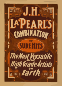 J.h. La Pearl S Combination Of Sure Hits The Most Versatile And High Grade Artists On Earth. Clip Art