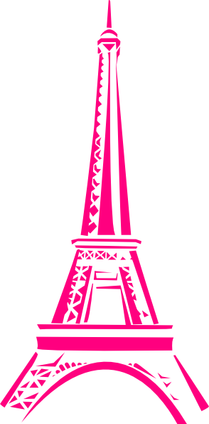 La tour eiffel eiffel tower clip art at vector clip image 1 - Gallery For Gt Eiffel Tower Drawing Pink