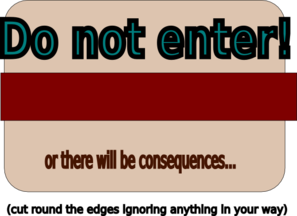 Do Not Enter Poster Clip Art