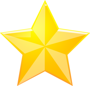 Shaded Yellow Star Clip Art